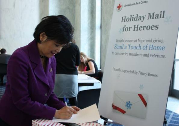 Rep. Chu sends a holiday card to relay her best wishes to our troops.