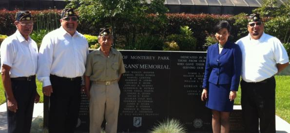 Rep. Chu with veterans on Memorial Day